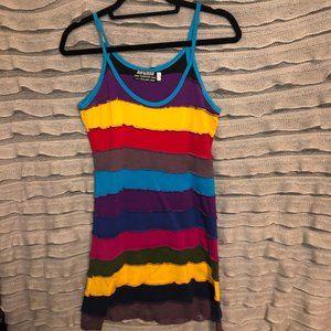 Vintage Rayzor rainbow tank dress